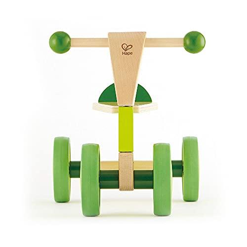 Hape Rutschrad aus Holz   Rutschrad mit vier Gummirädern für Kleinkinder, Hellgrün