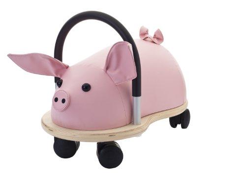Wheely Bug Ferkel klein, kleines Holzschwein auf Rollen mit Griff, ultimatives cooles Rutschauto, Spaß Car - Auto für jedes Kind