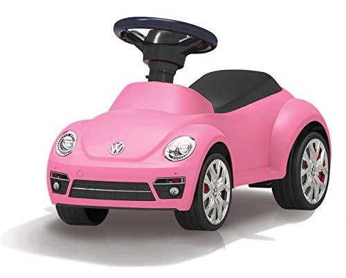JAMARA 460406 - Rutscher VW Beetle - Kippschutz, Hupe am Lenkrad, originalgetreue Optik, pink