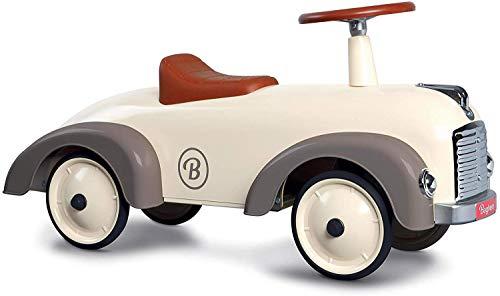 Baghera Rutschauto Speedster Cremeweiß | Rutschfahrzeug für Kinder - zahlreiche lebensechte Details | Retro Rutschauto für Kinder ab 1 Jahr