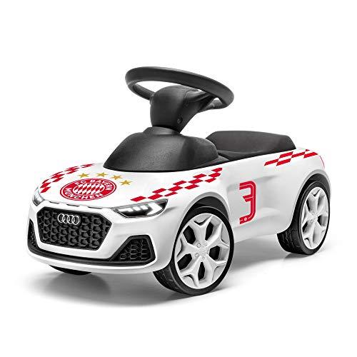 Audi 3202001200 Junior Quattro Rutschauto Bobbycar Kinderfahrzeug FC Bayern München Design, weiß