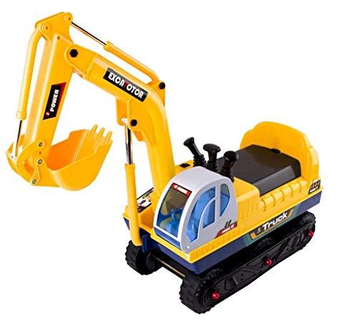 deAO Kinderbagger Bobbycar elektronisches Spielzeug für draußen, Kinderfahrzeug mit Sound und wiederaufladbaren Batterien