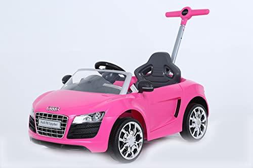 ROLLPLAY Push Car mit ausziehbarer Fußstütze, Für Kinder ab 1 Jahr, Bis max. 20 kg, Audi R8 Spyder, Pink