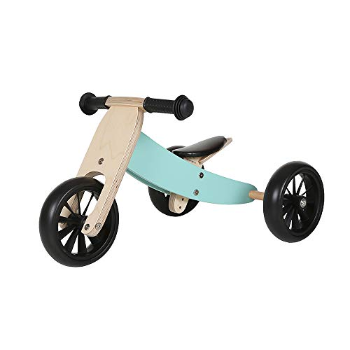 Bandits & Angels Lauflernrad / Laufrad aus Holz 4-in-1 Smartbike ab 1 Jahre (Minze)