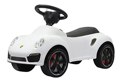 Rutscher Porsche 911 weiß – Kippschutz, Flüsterreifen, echte Scheinwerferattrappen, Hupe am griffigen Lenkrad, offiziell lizenziert mit originalgetreuer Optik, wertige Verarbeitung