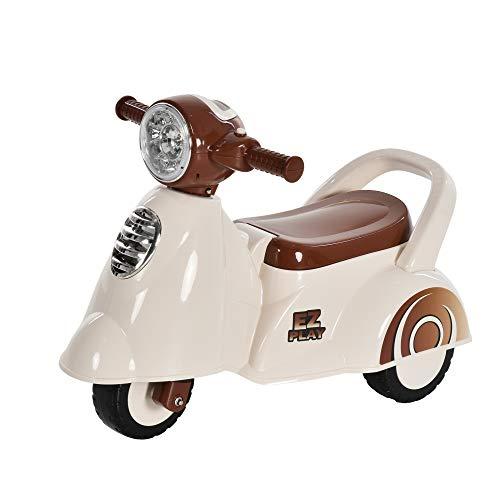 HOMCOM Rutscher Kinder Rutscherauto Geländewagen Rutscherfahrzeug Kinderfahrzeug für Jungen und Mädchen mit Musik & Druckknopfhupe Weiß 66 x 33 x 47,7 cm