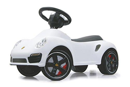 Jamara 460209 - Rutscher Porsche 911 weiß – Kippschutz, Flüsterreifen, echte Scheinwerferattrappen, Hupe am griffigen Lenkrad, offiziell lizenziert mit originalgetreuer Optik, wertige Verarbeitung