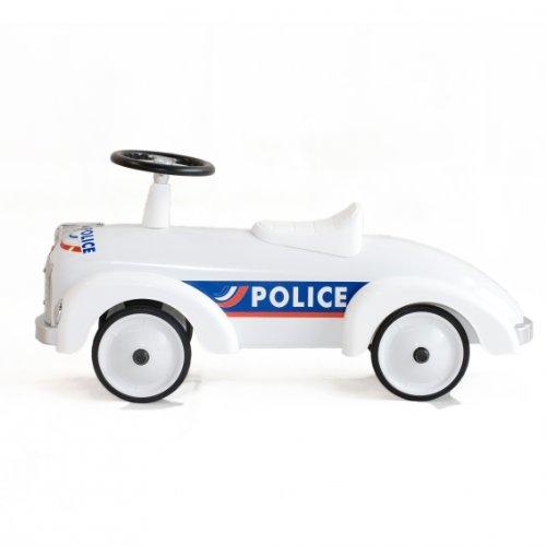 Baghera 841 - Rutscher Polizei aus Metall, Retrolook - Speedsters, weiß