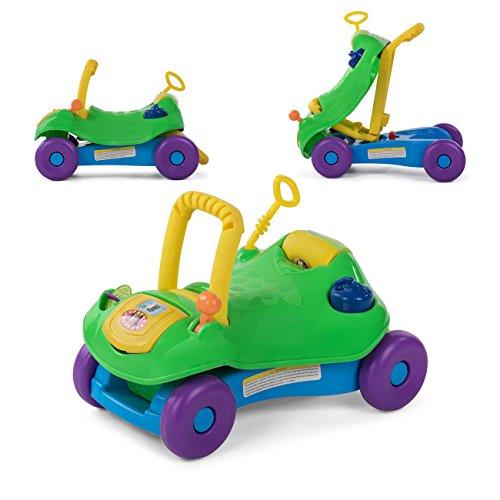 Baby Vivo Lauflernwagen Lauflernhilfe 2in1 Rutschauto Laufwagen Laufhilfe Kinder Baby Walker Multifunktional - Grün