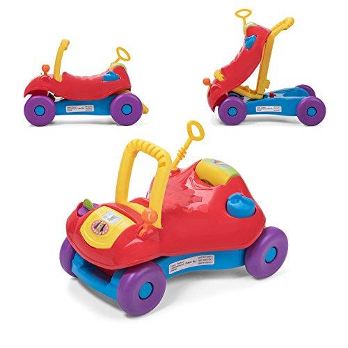 Baby Vivo Lauflernwagen Lauflernhilfe 2in1 Rutschauto Laufwagen Laufhilfe Kinder Baby Walker Multifunktional - Rot