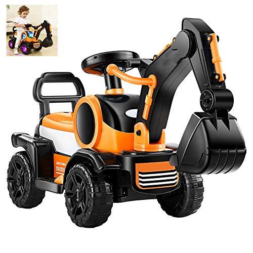 FXQIN Spielzeug-Bagger Sitzbagger Kinderfahrzeug zum Draufsitzen für Kinder ab 3 Jahre für Kinder in Strand oder zu Hause, Elektrischer Bagger für Kinder