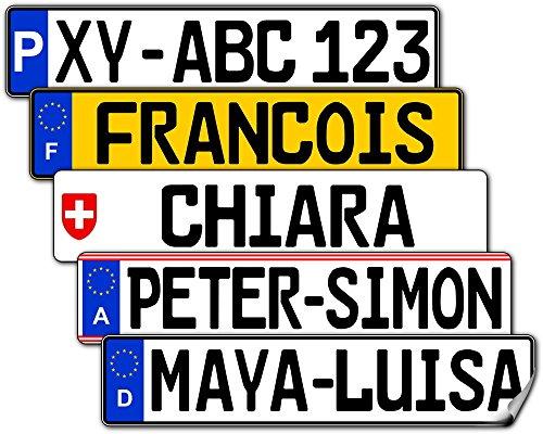 Nummernschild für Audi Rutschautos