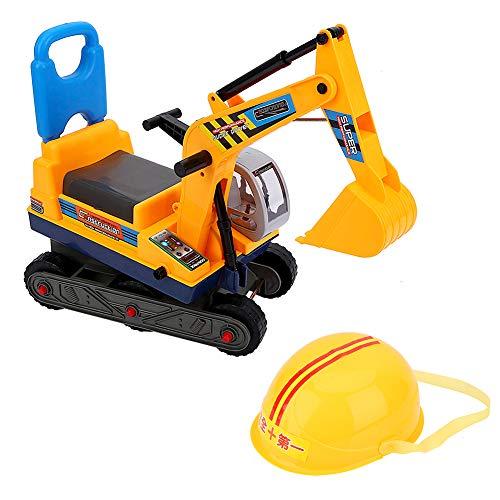 Sitzbagger für Kleinkinder, Aufsitzbagger Kinder Spielzeug Bagger Elektrischer Sandbagger Kinderauto Bagger Kinderfahrzeug Baggerfahrzeug mit Beweglichem Anti-Rutsch-Rad Und Griff
