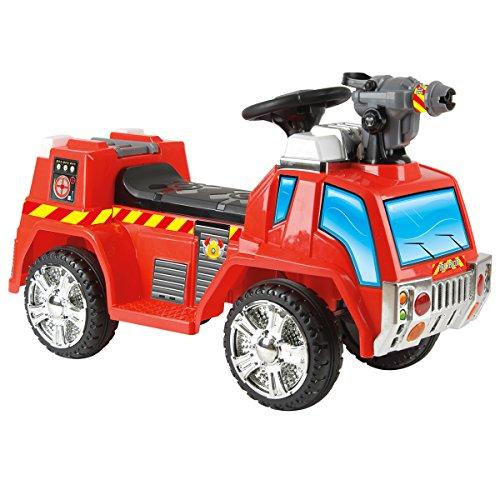 Charles Bentley - elektrisches Feuerwehr-Rutschauto mit Blasenspritze - 6 V - 3-6 Jahre