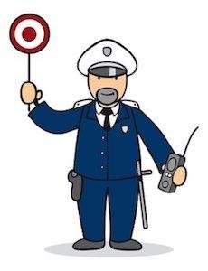 Polizei Rutschautos