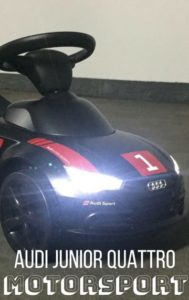 Audi Junior Quattro Motorsport mit LED-Licht