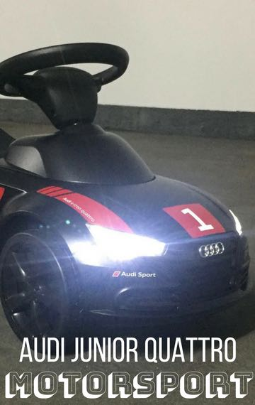 Audi Junior Quattro Motorsport mit LED-Licht