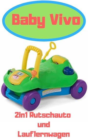 Baby Vivo 2in1 Rutschauto und Lauflernwagen